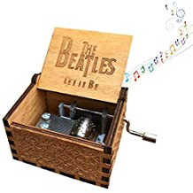 Mini caja de música de manivela para mujer, diseño de piratas del Caribe – Caja