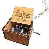 WOMDEE mini manovella Music Box, tema: pirati dei Caraibi–Carillon in legno antico intagliato per neonati, bambini, compleanni, come regalo di Natale (4temi)