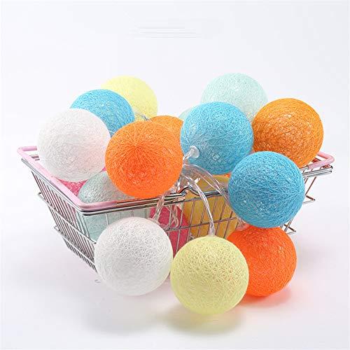 Cotton Line Ball Star String Led Leuchtet Usb Candy Farbe Ins Wind 3 Meter 20 Lichter (Candy Leuchtet)