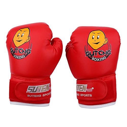 Guanti del Pugilato per Bambini 3 12 Anni Guanti di Addestramento Allenamento Boxe Guantoni Boxing Gloves Pugilati