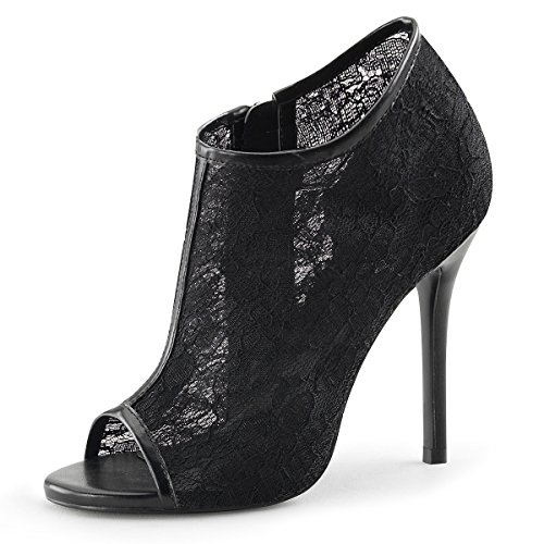 Peep Toe Sandalette, Damen, Schwarz (schwarz) Schwarz (Schwarz)