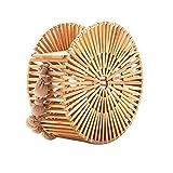 Handgemachte Bambushandtasche, 100% Naturbambus | Ausgezeichnete Qualität Einfach anzupassende Kleidung | Ein besonderes Geschenk Bambuskorb Stroh geflochtene Tasche