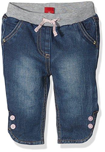s.Oliver Baby-Mädchen Jeanshose mit Jerseyfutter, Blau (Blue Denim Stretch 56z2), 80