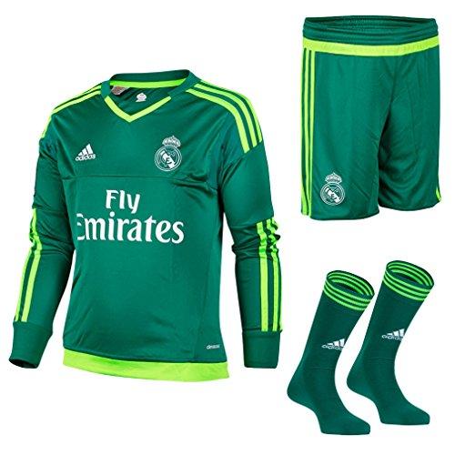 Adidas A GK SMU M – Survêtement du Real Madrid CF Équipement extérieur Maillot 2015/2016 unisexe, Vert/Blanc