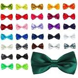 verschiedene Farben Schleife Krawatten für Männer - vorgebunden Schmetterling mit verstellbarer Gurt - Satin und Polye