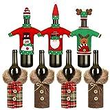 7 Pezzi Coperchio della Bottiglia di Vino di Natale Copri Maglione Bottiglia Decorativo Copri Bottiglia del Cappotto per Decorazioni per Le Feste di Natale, 5 Stili