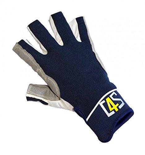 crazy4sailing Damen Herren Segelhandschuhe Racing - 5 Finger-frei, Größe:S, Farbe:Navyblau