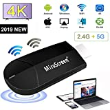 WiFi Dongle Hdmi Display, Projecteur sans Fil 4K HD pour Ordinateur Portable 2.4G + 5G, Récepteur D'affichage TV HDMI, Écran Miroir Miracast Airplay DLNA pour Android / iOS / Windows / Mac