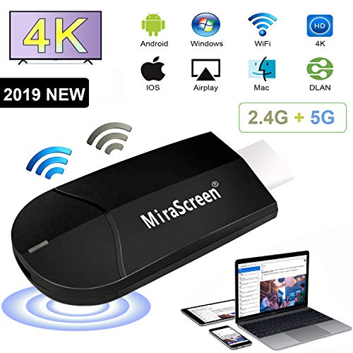WiFi Display Dongle, 2,4 G + 5G Smartphone Computer 4K HD Wireless Projektor, TV HDMI Display Receiver, Bildschirmspiegelung Miracast Airplay DLNA für Android / iOS / Windows / Mac (Projektor Für Mac)