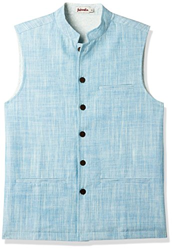 Fabindia Men's Jacket (10511147_Blue_42)