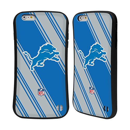 Ufficiale NFL Righe 2017/18 Detroit Lions Case Ibrida per Apple iPhone 6 / 6s Righe