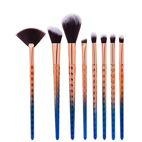 king-love-star-8-piezas-set-escamas-de-pescado-brocha-de-maquillaje-profesional-cosmetico-fundacion-
