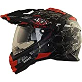 Broken Head Road Pirate Cross-Helm mit Visier | Endurohelm - MX Motocross Helm...