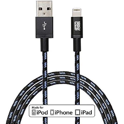 EZOPower 885157805353 - Cable USB (USB A, Lightning, Macho/Macho, Derecho, Derecho, Negro, Azul)