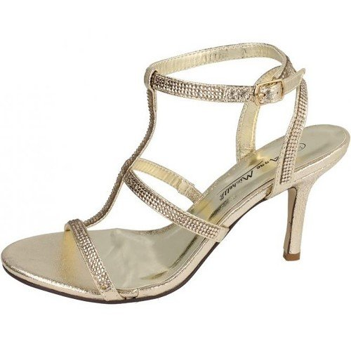 Spot On Anne Michelle by F10300 Sandali da Donna, Bianco (Champagne), 6 UK 39 EU