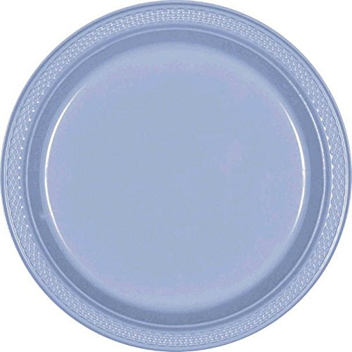 Kunststoff-Teller 26,6cm, Pastellblau, 20Stück (Halloween Papier Platten)
