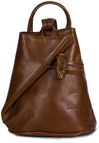 LIATALIA - Lederrucksack im Echtes Italienisches Leder liefert mit Schutzbeutel(Übergröße) - Brady - (Hellbraun)