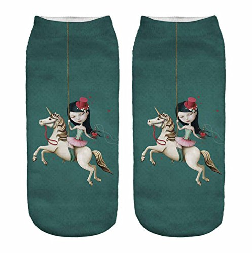 Sneaker-Socken - Unicorn Einhorn - 005 Karussell
