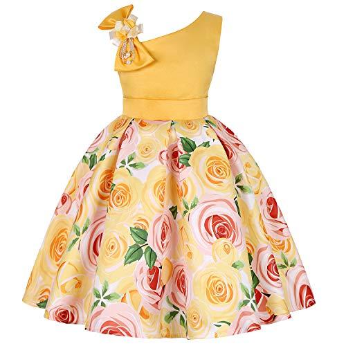 Disney Princess Belle Wedding Dress - EARIAL& Kids Flower Stripe Dresses for