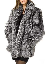 Amazon.it  ecopelliccia - Giacche e cappotti   Donna  Abbigliamento c9de71ffae5