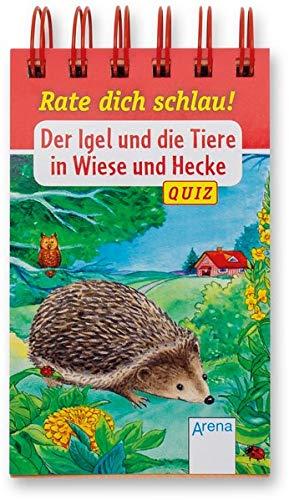 Der Igel und die Tiere in Wiese und Hecke: Rate dich schlau! Quiz
