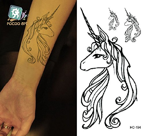 Entfernbare Tattoo Aufkleber Einhorn - HC1194 Sticker Tattoo Temporary Tattoo - FashionLife