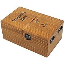 Madera maciza Inútil caja con sorpresas Useless Machine