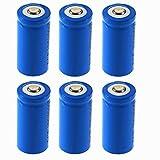 HKFV 6 x 2000mAh 3.6V 16340 CR123A Lithium-Ionen-Akku für Taschenlampe Batterie 16430