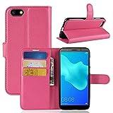Lapinette Schutzhülle Wallet-Etui für Huawei Honor 7S + Folie rosa