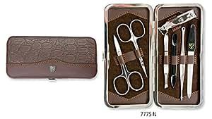 Drei Schwerter   Exklusives 7-teiliges Maniküre - Pediküre - Nagelpflege-Set / Etui   Qualität - Made in Solingen (777508)