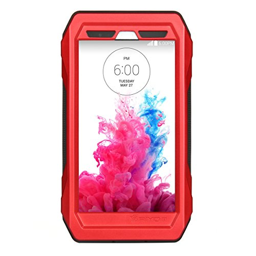 Forhouse LG G3 Warerproof Case, Water Resistant case with Screen Protector for LG G3, Sport Exercise Running Hiking, Etc Red