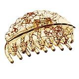 Baoblaze Damen Blumen Haarklammern Haarkspanger Haargreifer Haarkralle Haarschmuck Haarzwicker Hair claw Kopfbedeckung - Kaffee