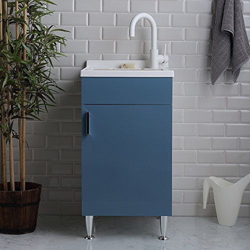 Lavatoio per interno 45x50 con lavabo in plastica resistente