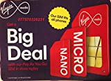 Virgin UK Sim Card Pay As You Go Trio Standard-Micro-Nano