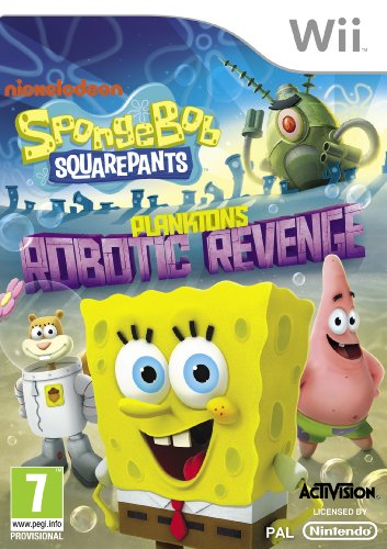 NEW & SEALED! SpongeBob SquarePants Plankton\'s Robotic Revenge Nintendo Wii Game
