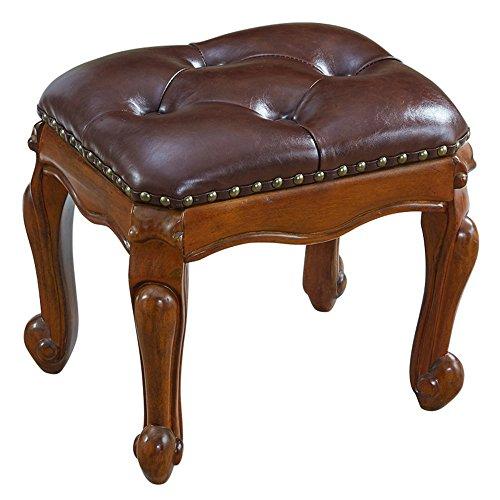 FEI Confortable Tabouret Tabouret de table en bois massif tabouret salon canapé Tabouret PU siège en bois jambe Solide et durable