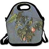 Monet Oil Painting Fancy Drawstring Bags With Zipper And Adjustable Crossbody Strap