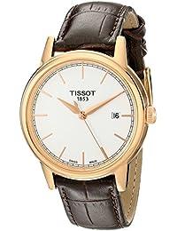 Herren-Armbanduhr XL Analog Quarz Leder T085.410.36.011.00