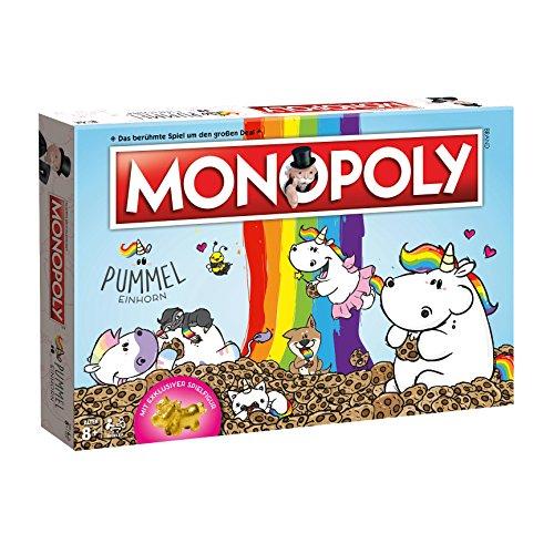 Monopoly Pummeleinhorn Collector's Edition - Brettspiel | Spiel | goldenes Einhorn | Deutsch