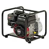 Briggs & Stratton 2″/50mm Elite Petrol Water Pump WP2-35 Featuring 435 Litre/min, 8m Vertical Suction and 550 Series OHV Engine, Black