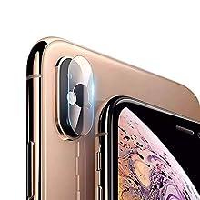 B-Side, Pellicola Fotocamera compatibile con iPhone XS Max/XS / X, Pellicola Sottile Fibra di Vetro Fotocamera Posteriore, AntiGraffio [Facile da Installare], Pellicola Vetro Lente della Fotocamera