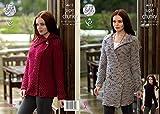King Cole Ladies Cardigan, Coatigan & Gilet Big Value Twist Knitting Pattern 4612 Super Chunky