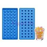 silikon eisformen 100 % BPA frei, Temperaturbeständig von -40°C bis 230°C, geruchsneutral, stabil & spülmaschinengeeignet (40 mini kugeln)