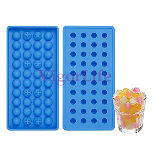 Ice Bpa-frei Trays Deckel Cube Mit (silikon eisformen 100 % BPA frei, Temperaturbeständig von -40°C bis 230°C, geruchsneutral, stabil & spülmaschinengeeignet (40 mini kugeln))
