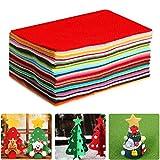 Aokebeey Feltro 40 Diversi Fogli di Feltro di Poliestere Colorati Lavabili 30 cm * 30 cm di Feltro per progetti di Cucito Artigianali Fai da Te (30x30 cm)