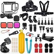 Kupton Kit Accessori Bundle per GoPro HERO9 Black, Carcasa Protectora +Filtri per Immersioni + Copri-Obiettivo