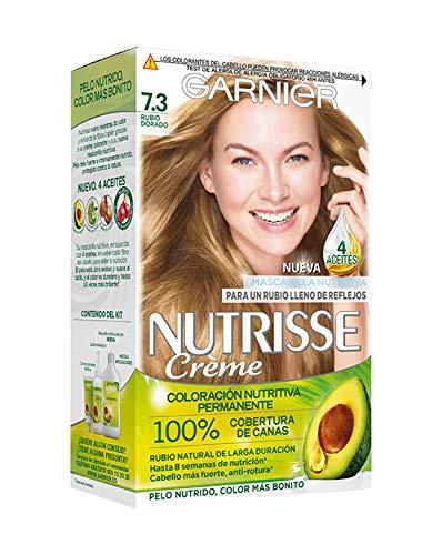 Garnier Nutrisse Creme coloración permanente con mascarilla nutritiva de cuatro aceites - Rubio Dorado...