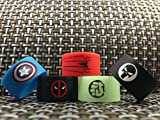 19mm x 12mm New Spiderman Hulk Glow in the Dark Deadpool Captain America Punisher