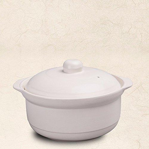 SDS-COM Suppentopf Porzellan Topf Sauce Topf Blase Porzellan Topf, 2L (Emaille Sauce Topf)