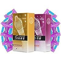 REFURBISHHOUSE 24 Stuecke/Anteil 5D gepunktete Gewinde von gerippte G-Punkt Latex Kondome Verhuetungsmittel Grosse... preisvergleich bei billige-tabletten.eu